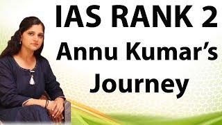 UPSC Topper interview AIR 2 Anu Kumari - Strategy, books, Mistake to avoid, Syllabus, Tips