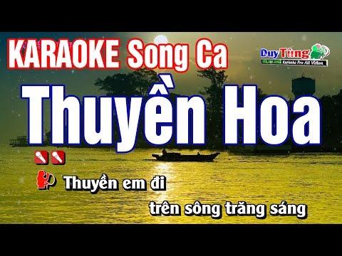 Karaoke    Thuyền Hoa - Song Ca    Nhạc Sống Duy Tùng