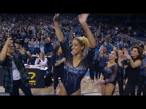 Danusia Francis scores a perfect 10 on the beam for UCLA