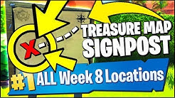 search the treasure map signpost found in paradise palms fortnite season 8 week 8 challenges duration 10 59 - search the treasure map signpost found in paradise palms in fortnite battle royale