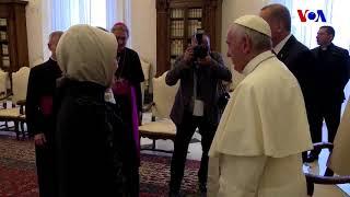 Cumhurbaşkanı Erdoğan Papa ile Görüştü
