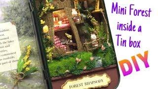 Dollhouse miniature in a tin box- Cuteroom kit- Forest Rhapsody