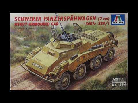 Italeri 1/35 Schwerer Panzerspahwagen (2cm) Sd.Kfz 234/1 Kit# 294