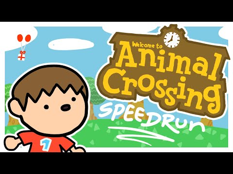 Animal Crossing Speedrun ANIMATED - First Debt% WR