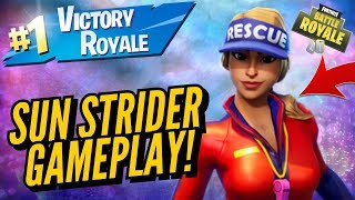SUN STRIDER Skin Gameplay! In Fortnite Battle Royale..