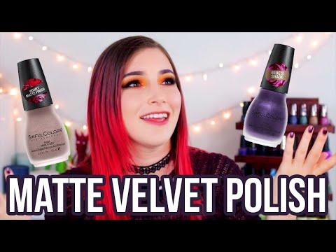 Sinful Colors Velvet Obsession Swatches (drugstore matte velvet nail polish!!) || KELLI MARISSA thumbnail