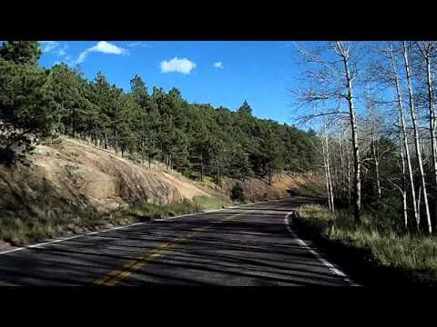Downhill Drive from the top of Pike's Peak, Colorado: Dashcam