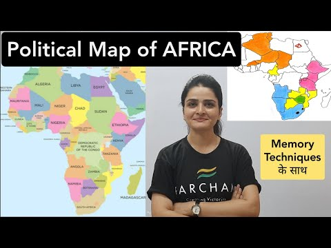 World Map: AFRICA Political Map - Learn all countries on map