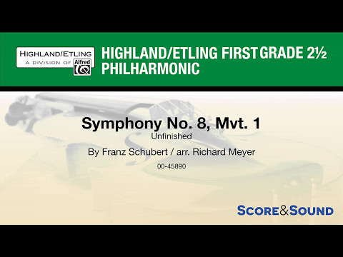 Symphony No. 8, Mvt. 1, arr. Richard Meyer – Score & Sound