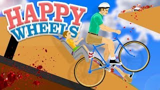 Insane Ragdoll Bicycle Stunts Gone Wrong! - Happy Wheels Gameplay