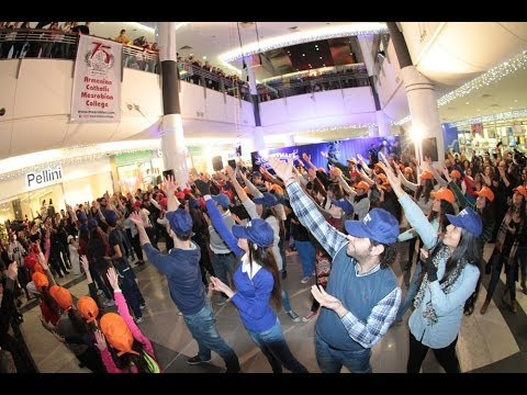 Flash mob, Mesrobian Colleges 75th anniversary, Sasna bar (Armenian dance), City Mall
