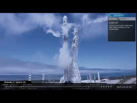 SpaceX Falcon-9 Kicks off!! with NASA's GRACE FO Twin Mission, Along with 5 Iridium Satellites