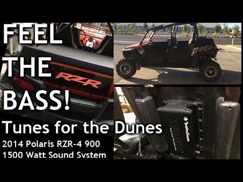 FEEL THE BASS! TUNES for the DUNES + SEAT FLEX - Polaris RZR-4 900 - 1500 WATT Sound System