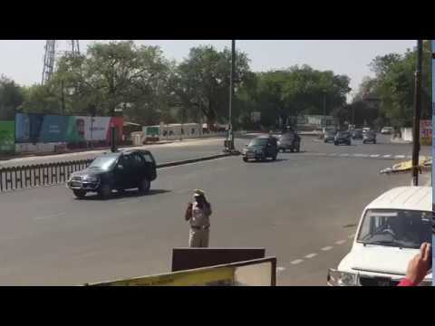 NARENDRA modi ji Range rover (Kafila)in Nagpur. 13 April