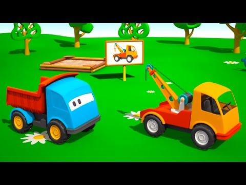Leo der neugierige Lastwagen und der Abschleppwagen - Viel Spass beim lernen!