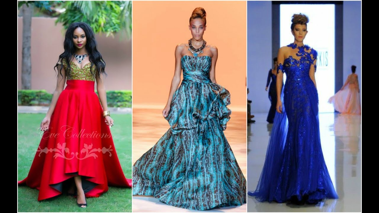 Outstanding African Evening Dresses - YouTube
