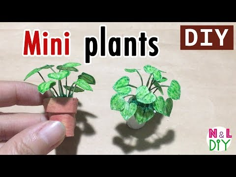 DIY Miniature Plants for Dollhouse | How to make Mini Plants for Doll