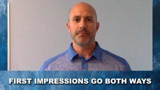 First Impressions Go Both Ways