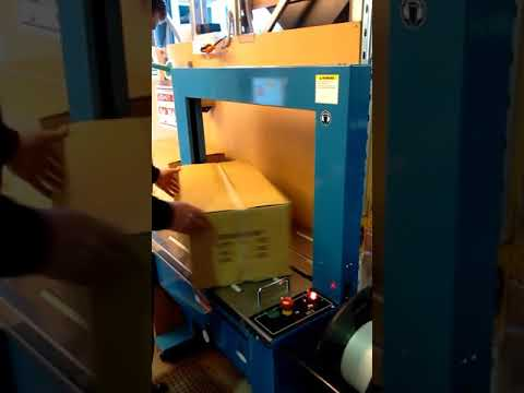 Video of TRS 600 Pacmasta Auto Strapping Machine in Operation