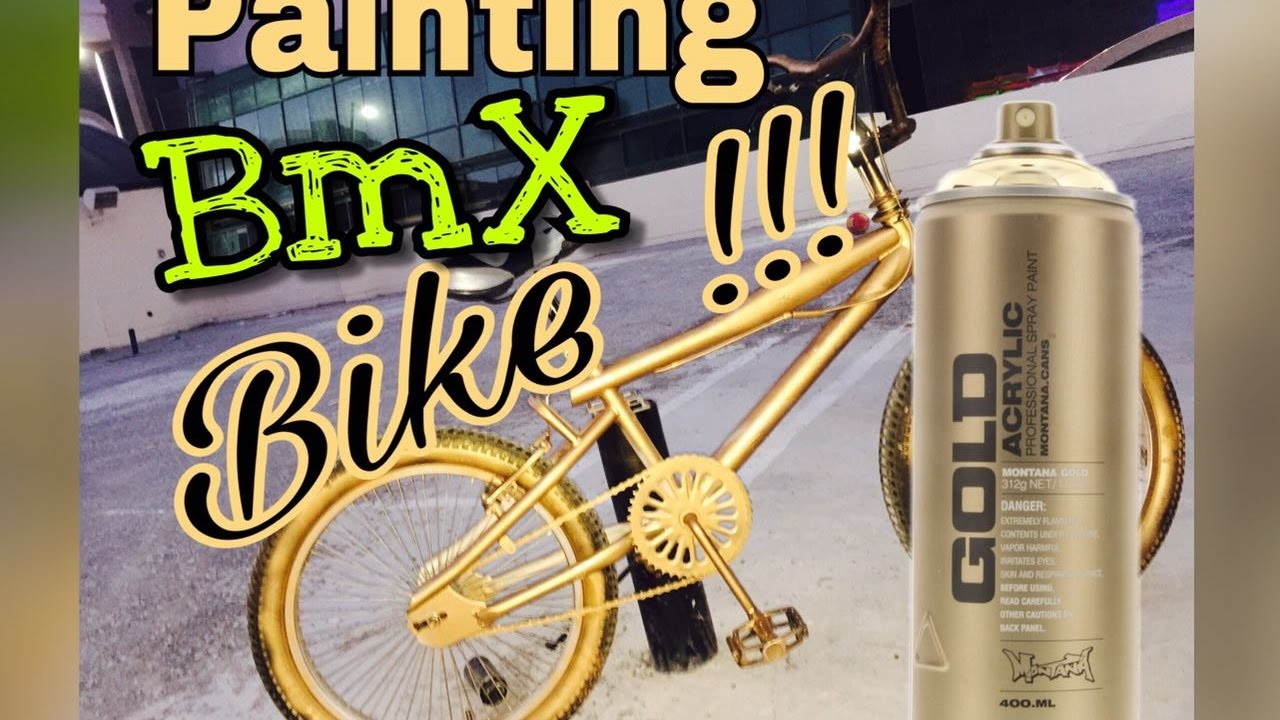 Painting Bmx Bike Golden Color Youtube