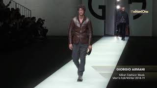 GIORGIO ARMANI Milan Fashion Week Men's Fall/Winter 2018-19