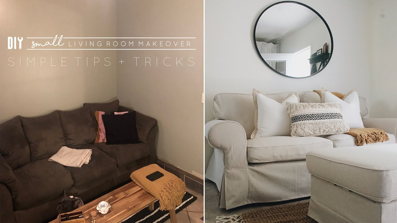 Diy Small Living Room Makeover Youtube