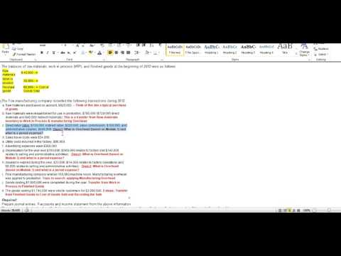 Cost Accounting - Job Order Costing