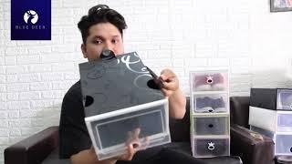 Cách gấp hộp đựng giày nhựa cứng trong suốt | Cách ráp chồng hop dung giay A đến Z - Năm 2019