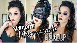 Masquerade Vampire Halloween Makeup Look |