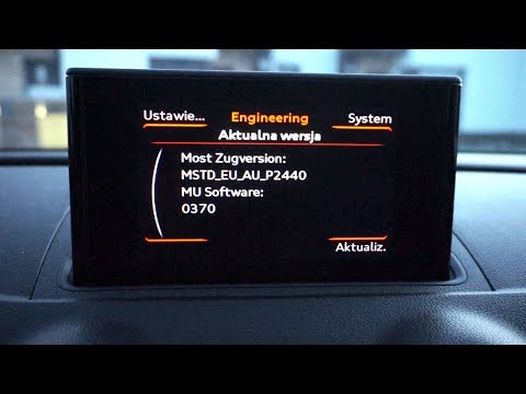 Audi A3 8V MMI (MSTD) Red Hidden Menu (engineering Mode)