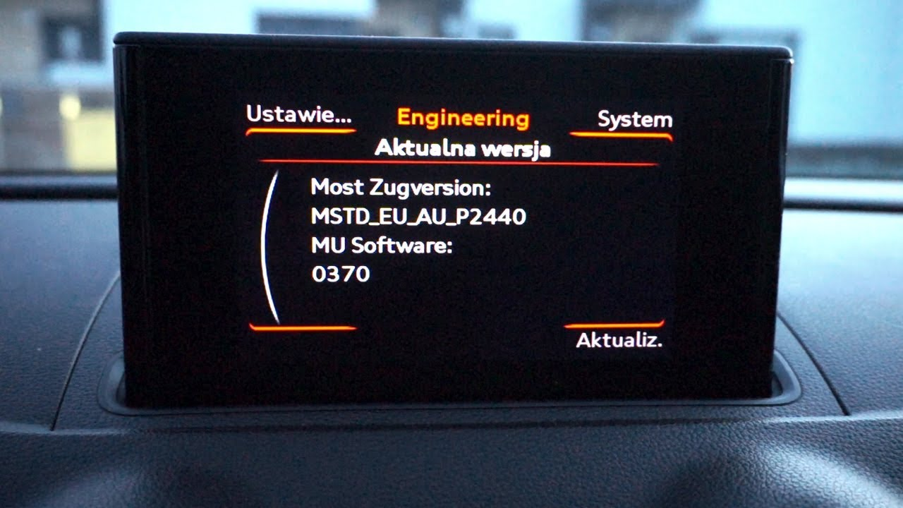 Audi A3 8V MMI (MSTD) red hidden menu (engineering mode)