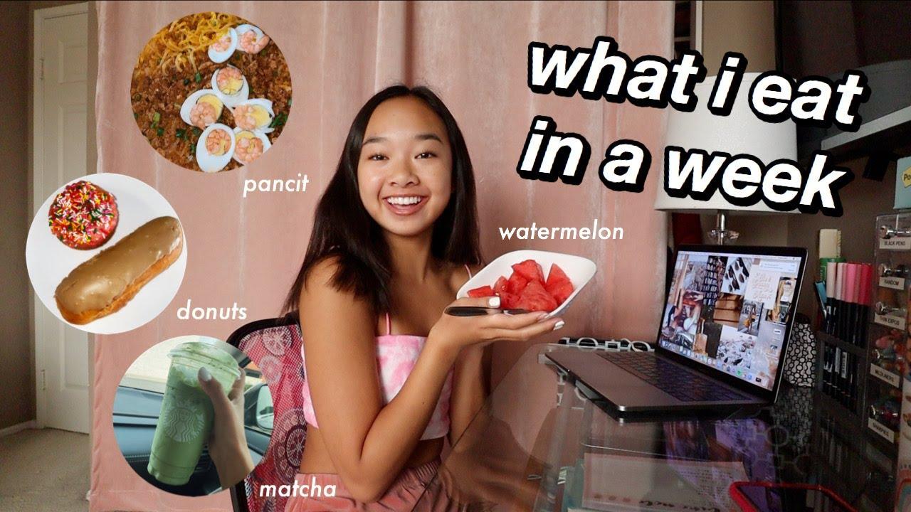what i eat in a week   Nicole Laeno
