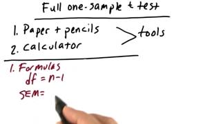 One-Sample t-Test - Intro to Inferential Statistics