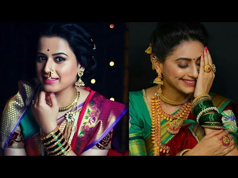 Marathi Actress With Traditional Look# Festival Look#Maharashtrian Traditional Jewellery //makeup#