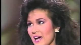 Miss Universe 1988: Semi-Finalist Interview - Miss Thailand