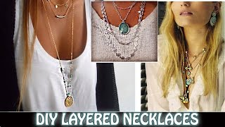 DIY Layered Necklaces