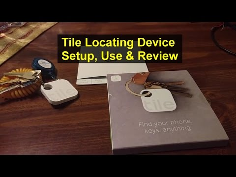 TILE Inc. location device, how to setup, use and review. Key finder or locator. - VOTD