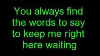 Staind-Right Here Lyrics