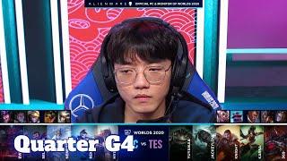 TES vs FNC - Game 4   Quarter Finals S10 LoL Worlds 2020 PlayOffs   Top Esports vs Fnatic G4 full