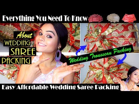 WEDDING TROUSSEAU PACKING | AFFORDABLE SAREE PACKING | indian wedding packages |#DIY