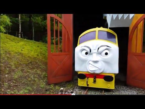 Giant Thomas and Friends James Percy Flynn Bertie Hanry Diesel 10  Harold at Thomas Land Japan