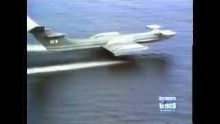 ( WIG ) USCG  Alexeyev KM Ekranoplan _Caspian Sea Monster_.flv