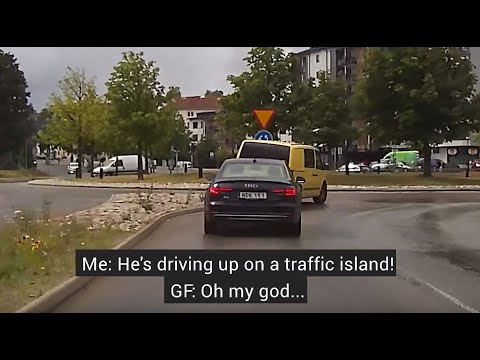 DRUNK DRIVER FOLLOWED AND TAKEN OFF THE ROAD (4K)! || STOCKHOLM DASHCAM