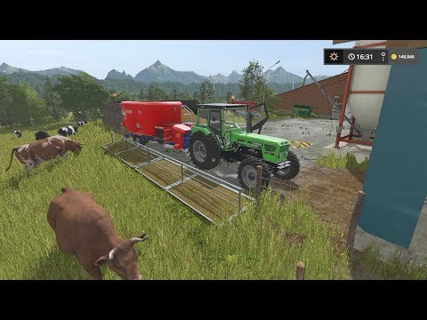 Feeding cows | Small Farm | Farming Simulator 2017 | Episode