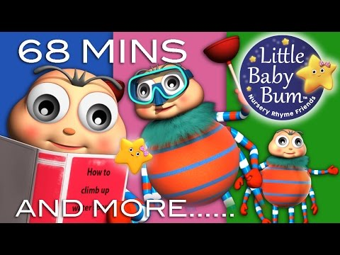 Itsy Bitsy Spider | Plus Lots More Nursery Rhymes | 68 Minutes Compilation from LittleBabyBum!