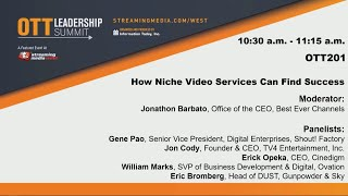Gambar cover OTT201. How Niche Video Services Can Find Success
