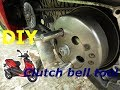 How to change belt on Aprilia scooter - hard vs. easy way