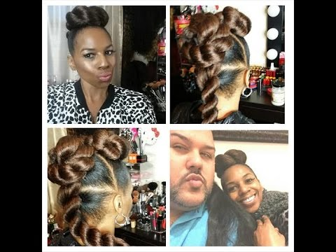 braiding styles for natural hair twist updo tutorial w kanekalon hair by hairbyraymond 1484 | hqdefault
