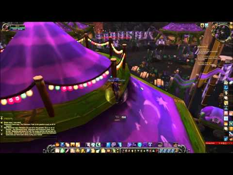 WoW 4.3.4 Darkmoon Exploration - On top and inside of tent.