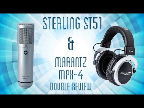 Sterling Audio ST51 Condenser Microphone & Marantz MPH-4 Headphones Review / Demo